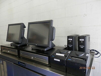 Lot Of 2 Touchscreen Pos System 4 Restaurant W Drawers