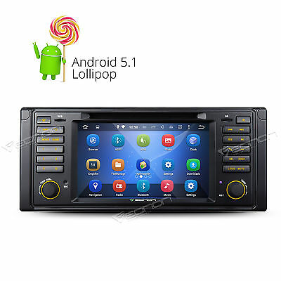 "GA6201 7"" Android 5.1 Car Stereo DVD GPS WiFi OBD2 Touch Screen for BMW E39 M5 W"