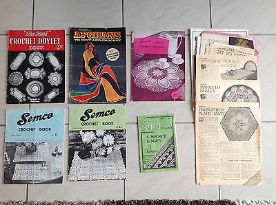Vintage Crochet Books and Articles
