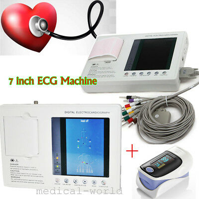 Best  12-lead Digital 3-channel Electrocardiograph ECG/EKG Machine US Ship FDA