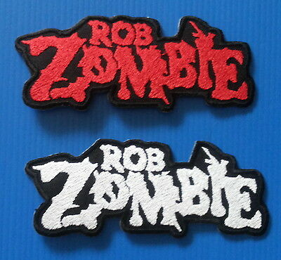2 Lot ROB ZOMBIE 2 X 4.5 Embrodered Iron Or Sewn On SCRIPT Patches FREE SHIP