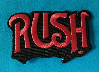 RUSH CANADIAN THRASH METAL BAND Embroidered Sewn On Iron On  Patch Free Ship