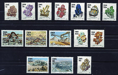 "SWA 1989 - 4th Definitive Issue ""Mines & Minerals"" - Full set of 15 MNH"
