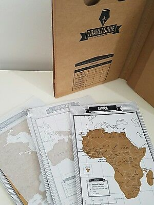NEW Luckies Travel Journal with Mini Scratch Maps