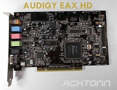 Creative Sound Blaster Audigy EAX Advanced HD SB0090 7.1 PCI Sound Card ACKTONN