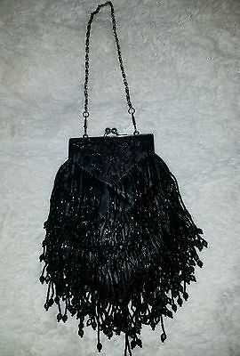 Vintage Estate Beautiful Hand Beaded 50's style Purse NEW CONDITION