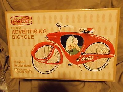 Coca - Cola Collectors Die Cast Advertising Bicycle 1:6 Scale Mint In Box