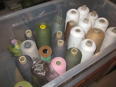 A Job Lot of Knitting Machine (on cones) Wool, Cotton, Thread ??????????????????