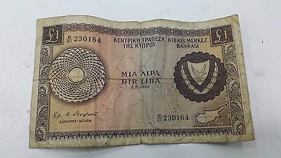 CYPRUS 1966 ONE POUND  Banknote