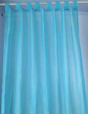 curtains 100% polyester sheer voile 2pcs window  tab top many colors
