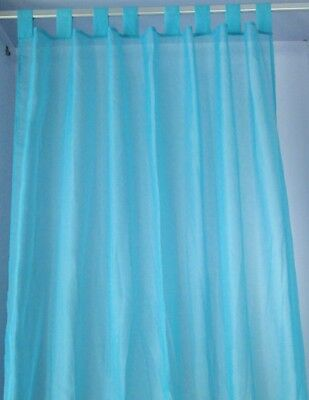 tab top polyester sheer voile curtain  window   2pcs/bag