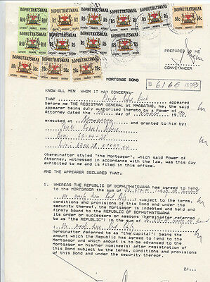 13 x Revenues: South Africa Bophuthatswana on document.  Bft cat US$113.  Scarce