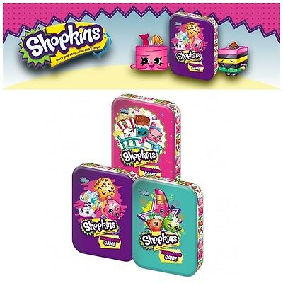 Shopkins Trading Cards Tin ( 3 packs and limited edition card ) Topps  -Stocking