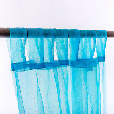 curtain 2pcs. new elegant organza tab top sheer curtains