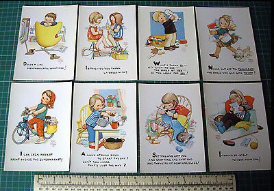 1960s/70s Mabel Lucie Attwell Classic Postcards x 8. Unused Old Stock.