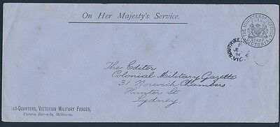 VICTORIA Frank Stamp 1894 The Ministry of Defence cover
