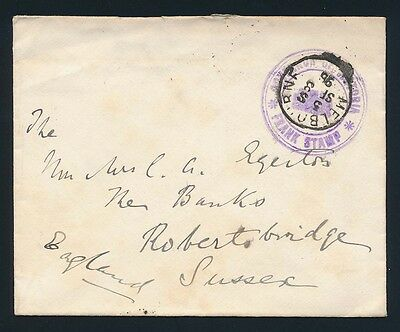 VICTORIA Frank Stamp 1896 Governor of Victoria die 6 cover
