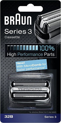 NEW BRAUN 32B Series 3 Shaver Cassette Foil & Cutter with MicroComb Technology