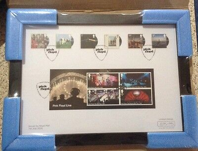 Pink Floyd stamps-Professionally Mounted And Framed Limited Edition of 1,995