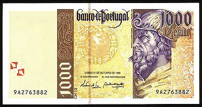 Portugal Bank Note 1000 Mil Escudos 1996 Unc Bill Paper Money 1,000 Uncirculated