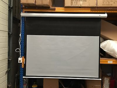 "B-Grade 72"" Electric Projection Screen projector home cinema Grey 16:9 X316"
