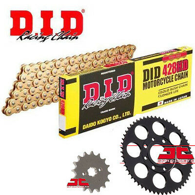 DID Gold Heavy Duty 428 Drive Chain & JT Sprocket Upgrade Kit Honda MSX125 Grom