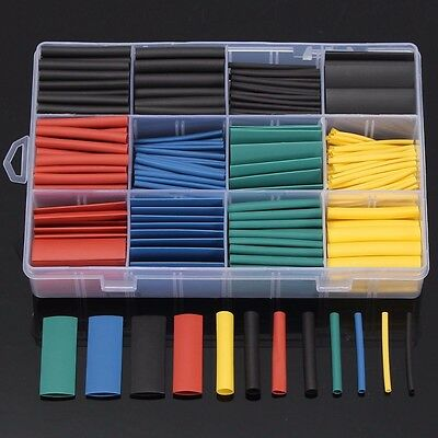 530 Pcs 2:1 Heat Shrink Tubing Insulation Shrinkable Tube Wrap Wire Cable Sleeve