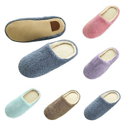 Women Lady Men Home Anti-slip Shoes Soft Warm Cotton House Indoor Slippers Shoes