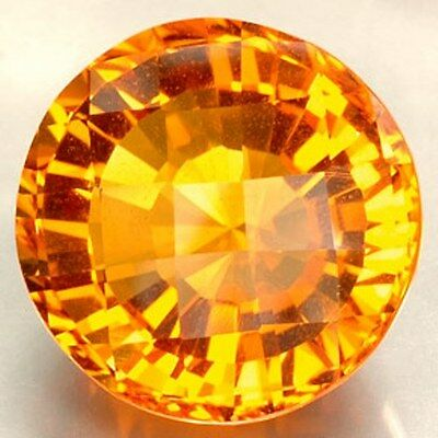 40.55Ct Citrine Round Cut Vvs Natural Brazil