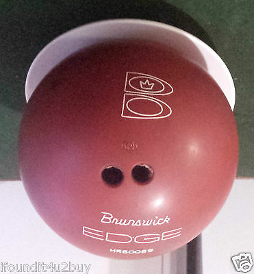 Vintage Red Brunswick 10 Pin Bowling Ball with Case HR60089