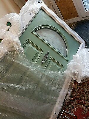 New Chartwell Green on White Composite Front Door