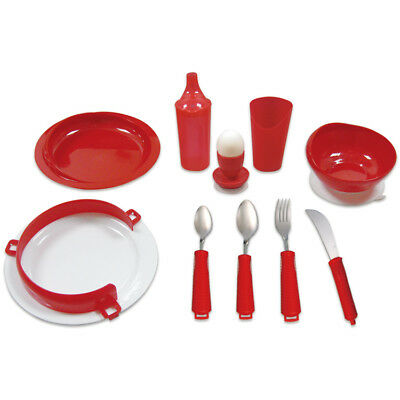 Deluxe Red Tableware Set for Alzheimer's and Dementia