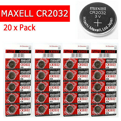 20 x CR2032 Branded Hitachi MAXELL 3V LITHIUM Coin Cell Button Batteries [110