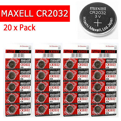 20 x CR2032 Branded Hitachi MAXELL 3V LITHIUM Coin Cell Button Batteries [104