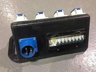 Rubber Box RUBTR1 32A RCBO to 8 x 16A MCB Distribution Unit