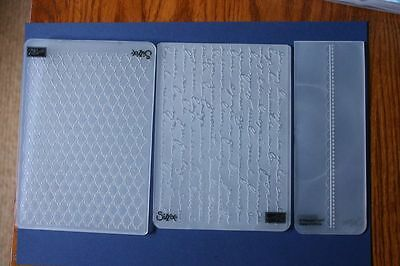 Stampin Up Embossing Folders + Couture Creation Embossing Folder