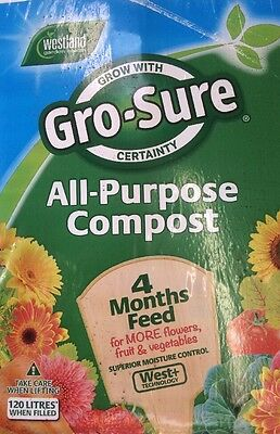 120 Litre Bale Of Westland All Purpose Compost With 4 Month Feed Fast Dispatch