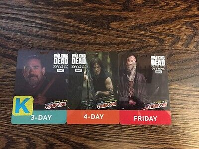 NYCC Badge Lot Kids 3 Day 4 Day The Walking Dead TWD 2016 New York Comic Con