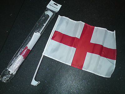 England 2 car flag, open pack but unused. From Tesco