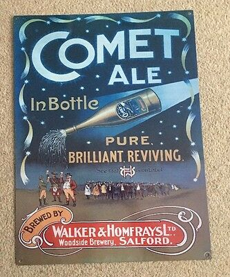 Comet Ale Bar Vintage Style Advert Pub Pool Cave Metal Wall Sign