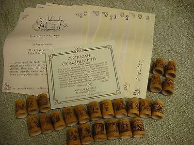 The Thimble Guild The Life Of Christ 24 Wooden Thimbles