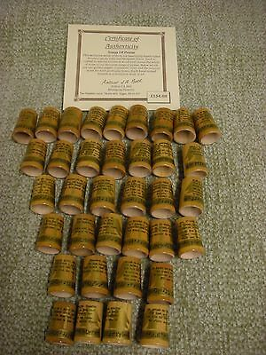 The Thimble Guild Songs Of Praise 36 Wooden Thimbles