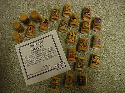 The Thimble Guild Historic Advertising 22 Wooden Thimbles