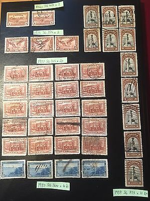 Accumulation Of Stamps From Canada - 1935 to 1946.