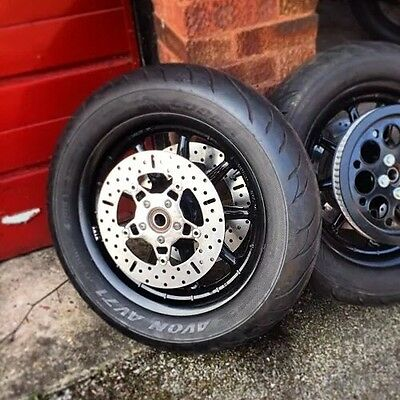 """Harley Touring Road King FRONT WHEEL and Tyre ONLY - 1"""" axle. 43421-00"""