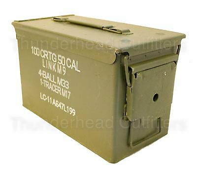 50 CAL AMMO CAN M2A1 5.56mm .50 Caliber USGI Military Surplus Very Good Cond