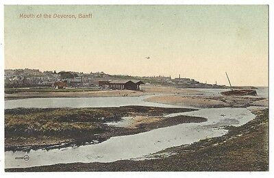 BANFF Mouth of the Deveron, Old Postcard by Valentine, Unused
