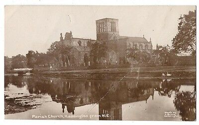 HADDINGTON Parish Church from NE, RP Postcard by C Bruce, Unused
