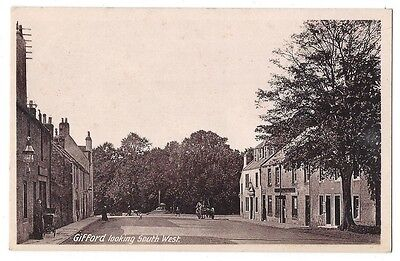 GIFFORD East Lothian, Looking South West, Old Postcard by Cunningham, Unused