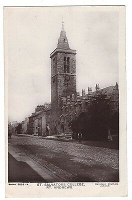 ST ANDREWS St Salvators College, RP Postcard by Davidson Postally Used 1907